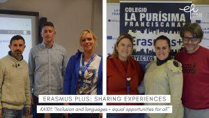 """Nuestros compañeros comparten su expericencia en el  KA101: """"Inclusion and languages = equal opportunities for all"""""""